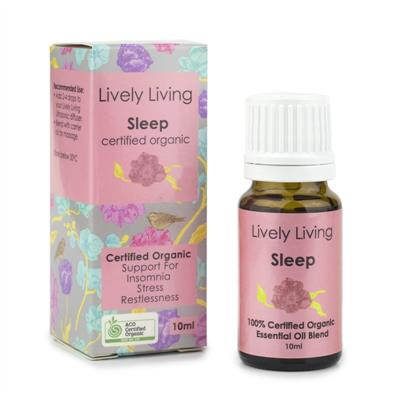 Lively Living 100% Certified Organic Essential Oil Sleep
