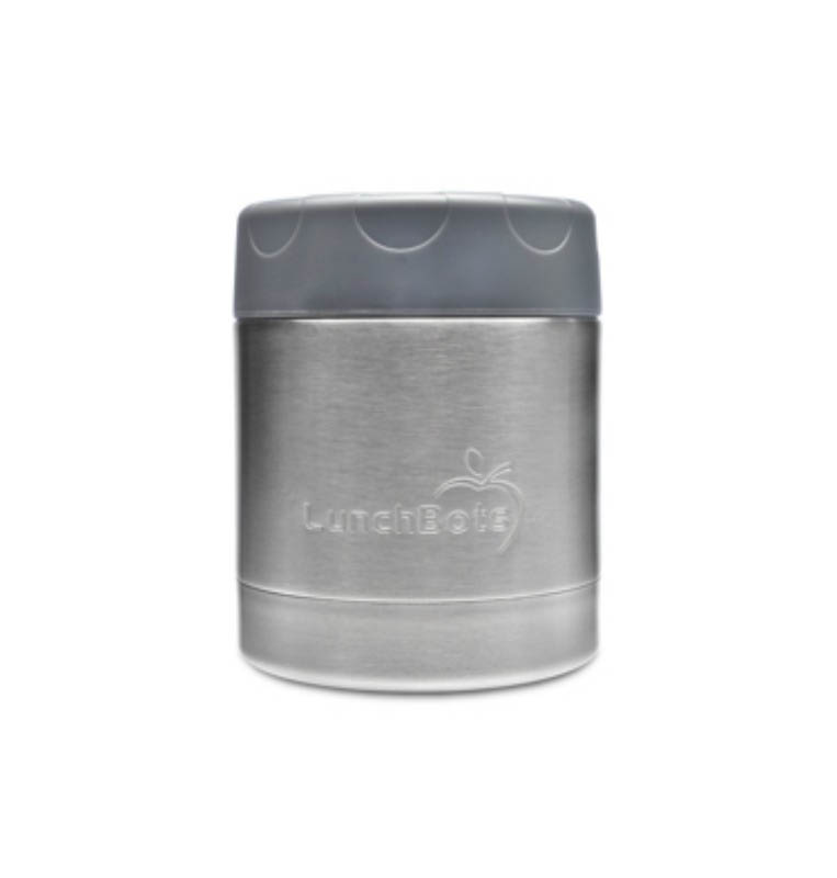 LunchBots Round Single 235ml/8oz Container-Grey