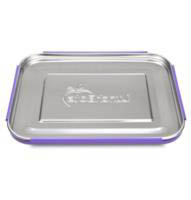 Lunchbots Stainless Steel Lunch Box - Bento Trio PURPLE DOTS