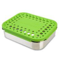 LunchBots Stainless Steel Lunch Box - Quad DOTS
