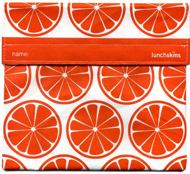 LunchSkins Reusable Ecofriendly Sandwich Bag- Orange Tangerine