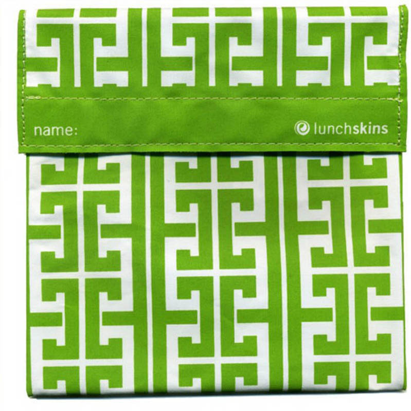 Lunchskins Reusable Sandwich Bag- Green Key