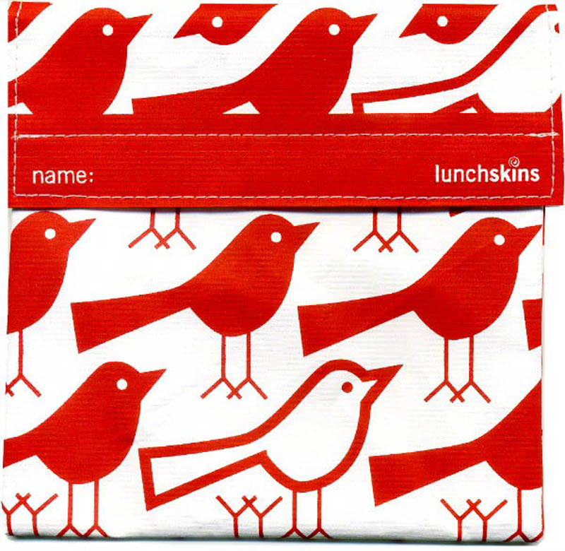 LunchSkins Reusable Sandwich Bag- Red Birds