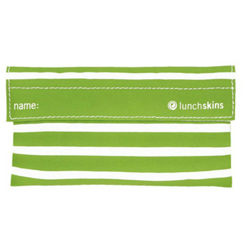 LunchSkins Reusable Snack Bag- Green Stripe