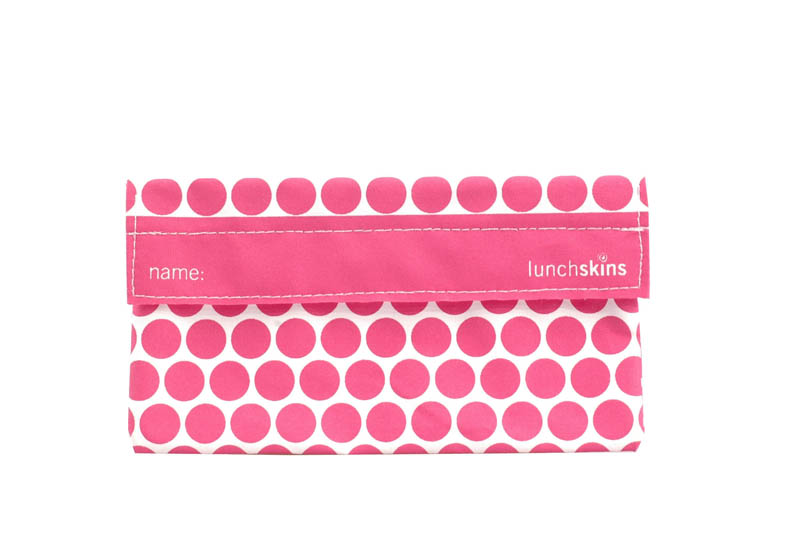 LunchSkins Reusable Snack Bag- Pink Dot