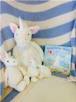 Magical Unicorn Dreams (Jellycat Bashful Unicorn book) by Louise Tate (Pictured with Huge,Medium and Small Bashful Unicorn,sold separately)