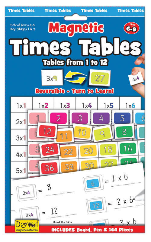 Magnetic Times Tables Age 6-9