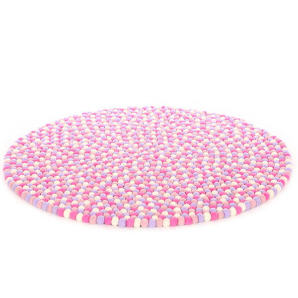 Marshmallow Felt Ball Rug