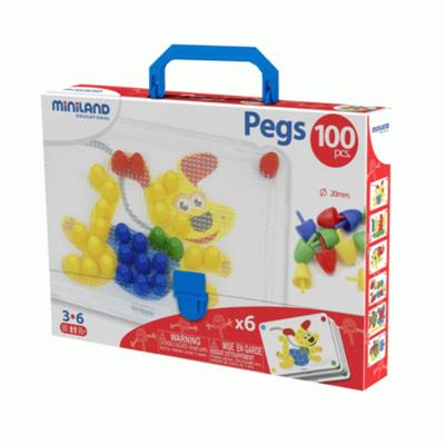 Miniland Pegs Suitcase 100pcs 20mm