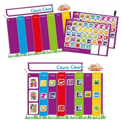 Monkey & Chops Fully Magnetised Chore Chart