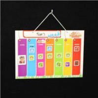 monkey & chops Hanging Magnetic Board Weekly Activity Planner