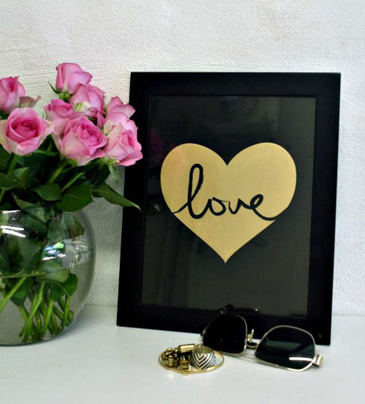 My Sweet Prints-Wall Art- Love Gold Foil Poster