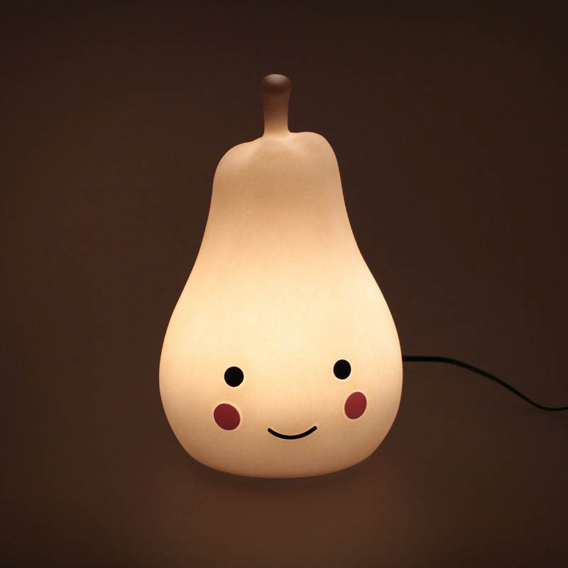 Night Light Pear Grey - Electric Touch Light