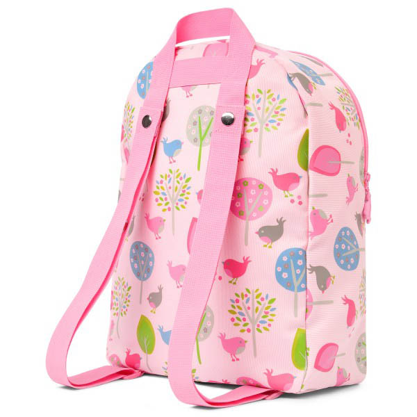 Penny Scallan Canvas Rucksack Backpack - Chirpy Bird