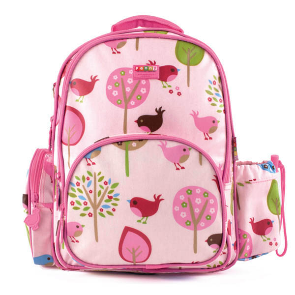 Penny Scallan-Kids Backpack-Large Backpack {Chirpy Bird}
