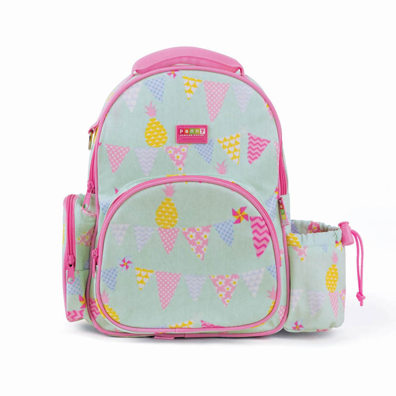 Penny Scallan- Kids Backpack- Medium Backpack {Pineapple Bunting}