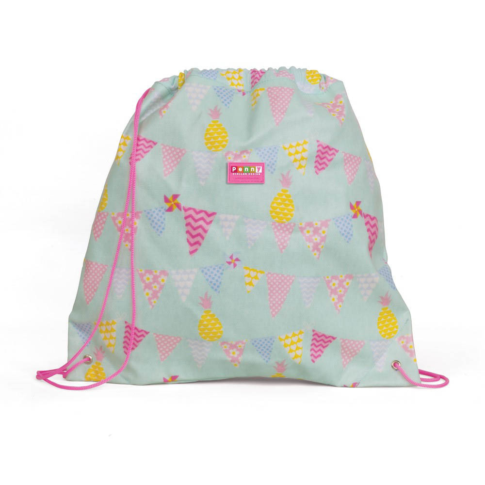Penny Scallan-Library/Swimming Bags- Drawstring Bag {Pineapple Bunting}