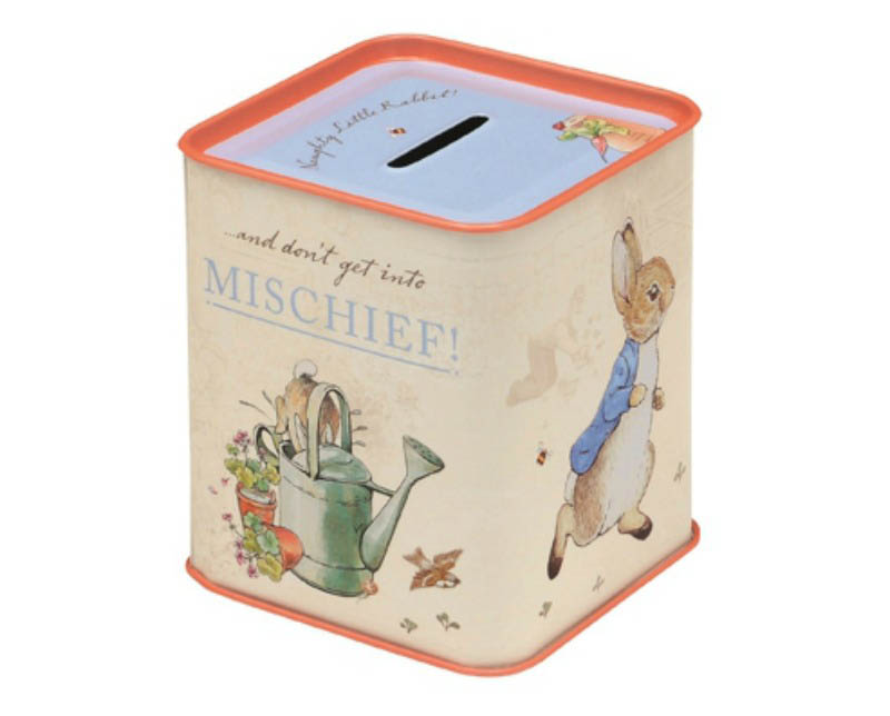 Peter Rabbit Tin Money Box
