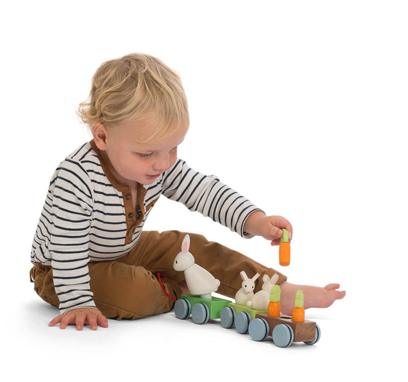 Petilou-Wooden Toys-Bunny Train