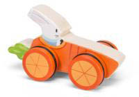 Petilou-Wooden Toys-Woodland Race Cars-Rabbit