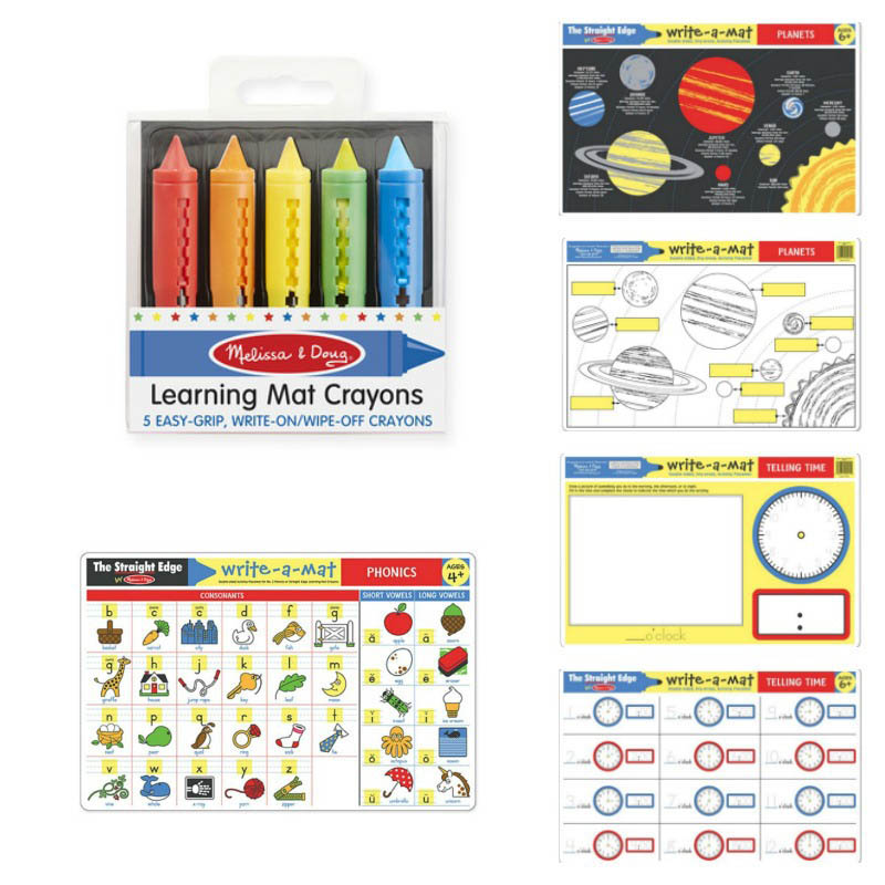 Planets,Phonics and Telling Time Learning Mat Set