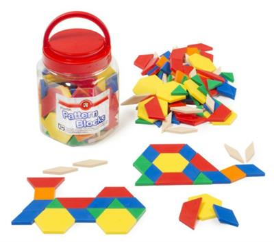 Plastic Pattern Blocks 126 pcs
