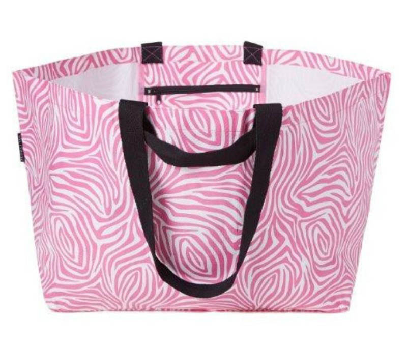 Project Ten - Pink Zebra Oversize Tote Bag
