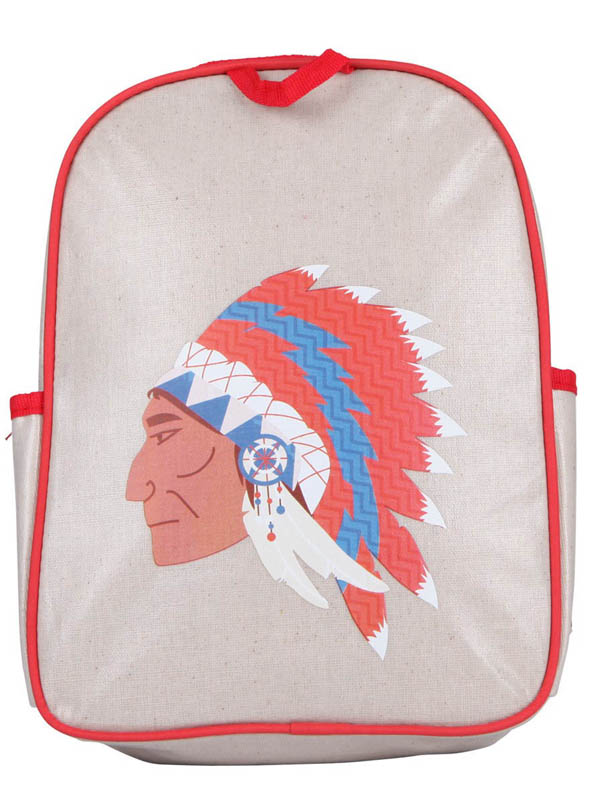 Apple and Mint-Kids Backpacks-Red American Indian Toddler Backpack