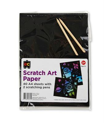 Scratch Art A4 Paper x 40 sheets