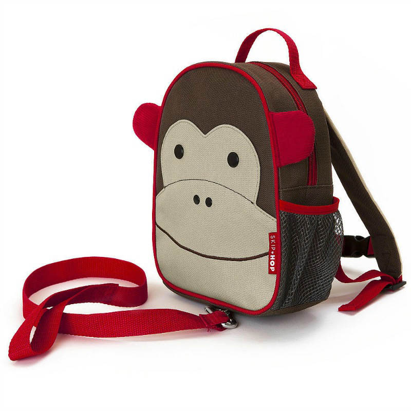 Skip Hop Zoo-Kids Backpacks- Let Mini Backpack with Safety Harness {Monkey}