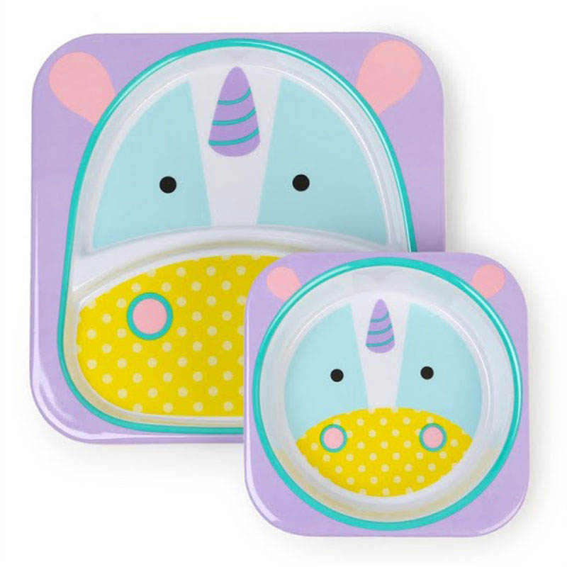 Skip Hop Zoo-Kids Dinnerware-Melamine Set {Unicorn}