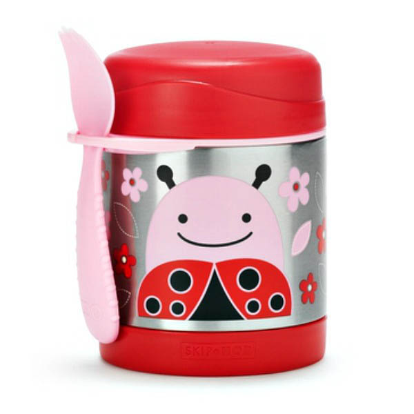 Skip Hop Zoo-Kids Lunchboxes- Insulated Food Jar {Ladybug}