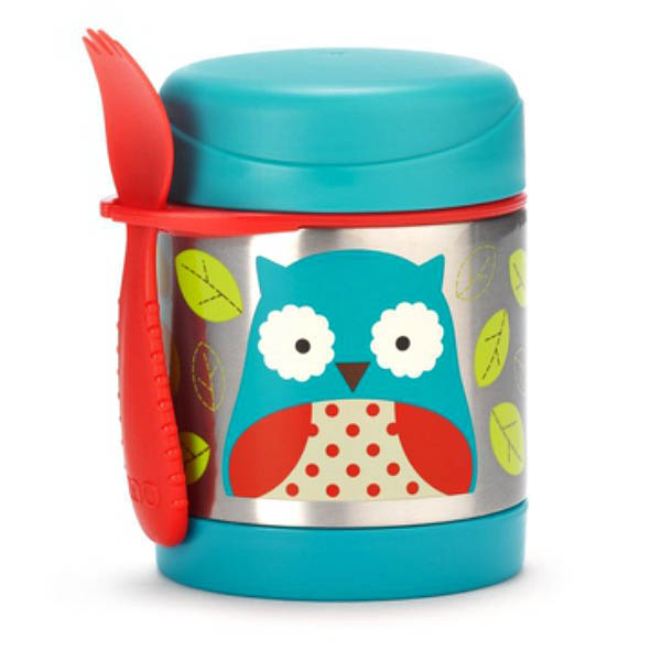 Skip Hop Zoo-Kids Lunchboxes- Insulated Food Jar {Owl}