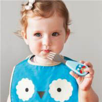 Kids Fork and Spoon Set-Owl
