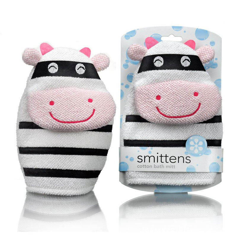 Star and Rose-Kids Bathing Essentials-Bath Mitt {Cow Bandit}