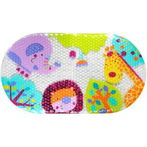 Star and Rose-Bath Mat PVC - Safari Animals
