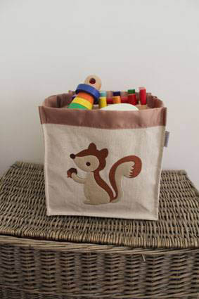 Storage Basket - Squirrel Square