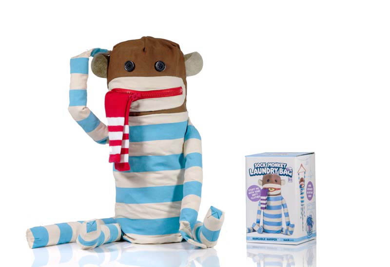 Suck UK :  Sock Monkey Laundry Bag