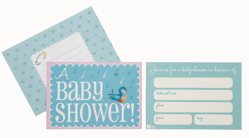 Talking Tables- Baby Showers-Baby on Board Invites and Envelopes