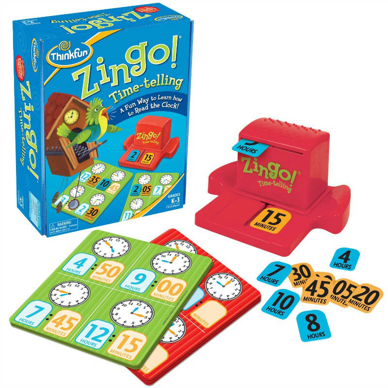 ThinkFun Zingo! Time-telling Game