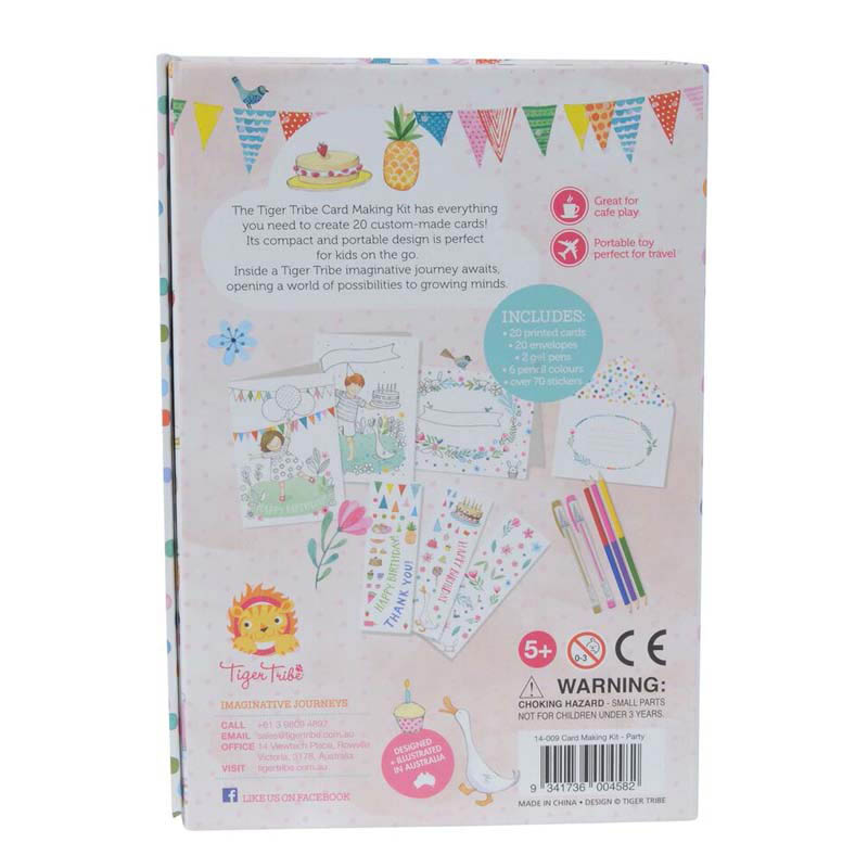 Tiger Tribe Party Card making Kit