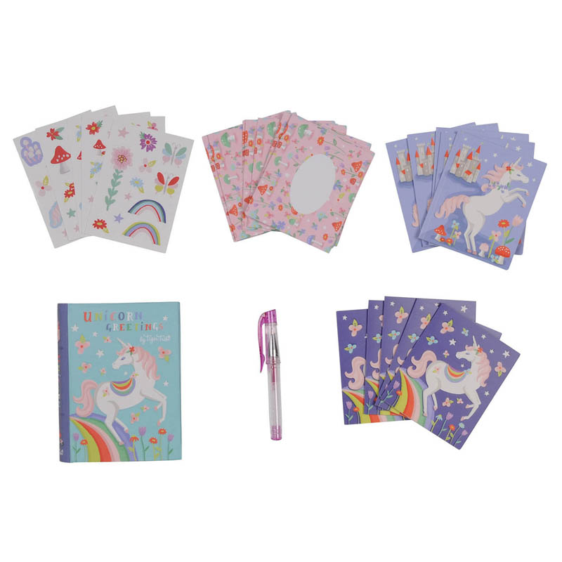 Tiger Tribe - Unicorn Greeting Stationary Set