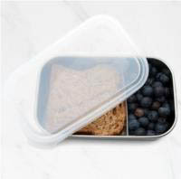 Rectangular Container with Divider-Clear