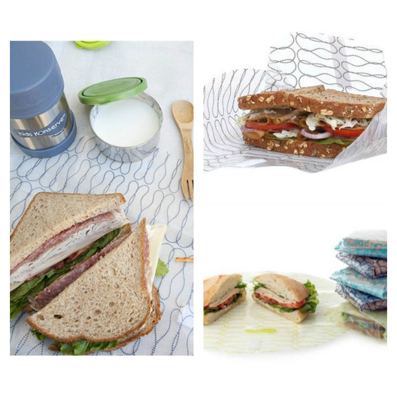 U Konserve-Reusable Sandwich Bags-Deli Style Food Kozy Wrap {2 pack}