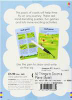 Usborne-50 Things To Do On A Plane Wipe-Clean Cards&Pen