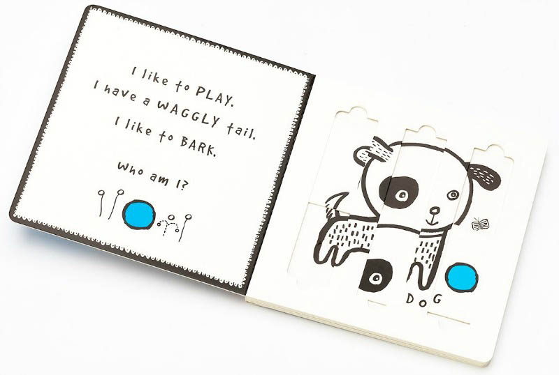 Wee Gallery Board Book - Slide and Play - Pets