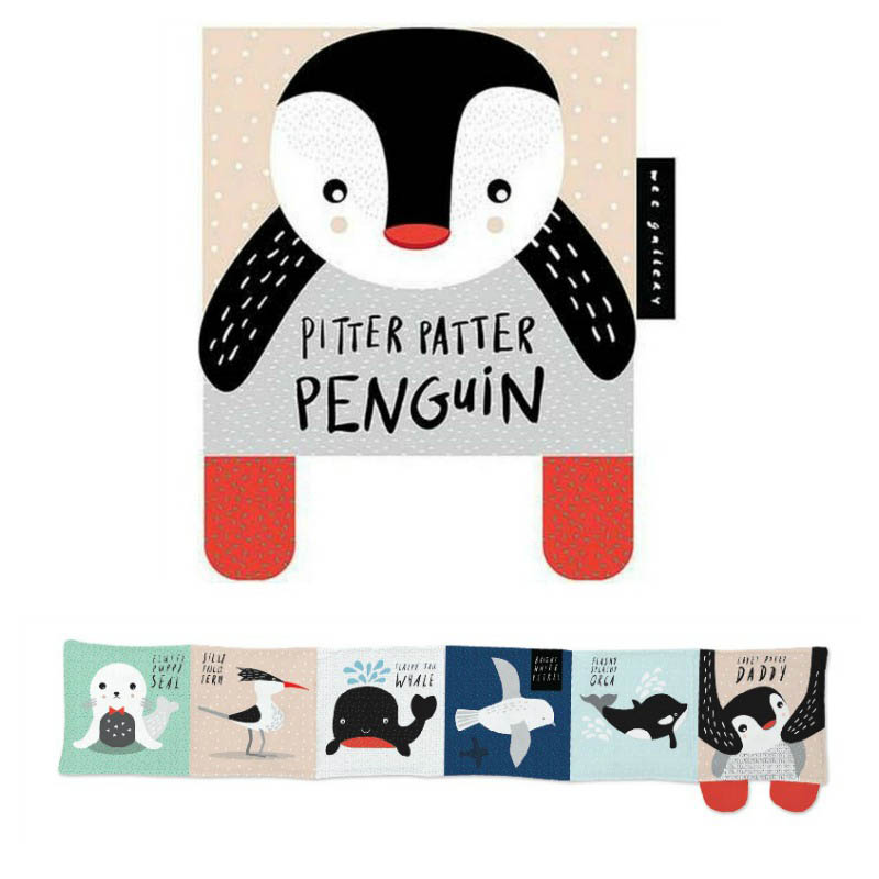Wee Gallery Cloth Books-Pitter Patter Penguin
