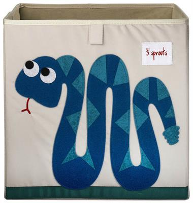 3 Sprouts Kids Toy / Storage Box {Blue Snake}