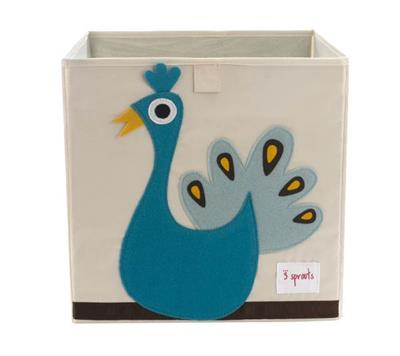 3 Sprouts Kids Toy / Storage Box {Peacock}