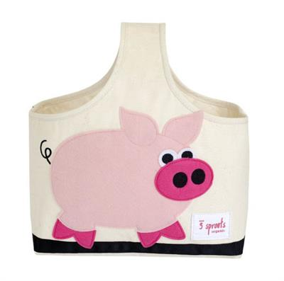 Storage Caddy - Pink Pig